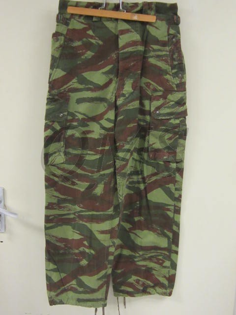 Trousers French Tap47 Lizard Pattern Camouflage Pantalon