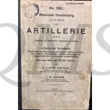 Voorschrift no 585 beknopte handleiding Artillerie afdeling techniek