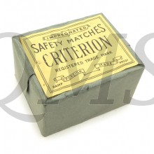 British/Canadian package which contains 10 smaller boxes of 'Criterion' Wooden Safety Matches