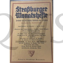 Straßburger Monatshefte. Zeitschrift für das deutsche Volkstum am Oberrhein. Aug/Sept 1940