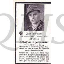 In Memoriam Karte/Death notice Sebastian Thalhammer