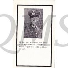 In Memoriam Karte/Death notice Theodor Siekaup