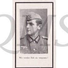 In Memoriam Karte/Death notice Franz Henzinger