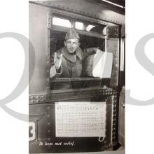 Prent briefkaart 1940 mobilisatie Ik kom met verlof