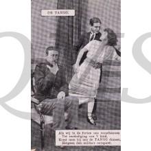 Prent briefkaart 1914 de Tango