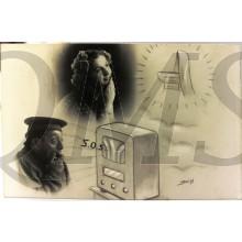 Prent briefkaart 1948 S.O.S.