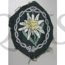 Bevo Woven Edelweiss for the German mountain troops