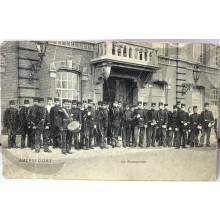 Prent briefkaart mobilisatie 1914 De Wachtparade Amersfoort