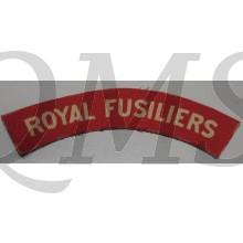 Shoulder title Royal Fusiliers (canvas)