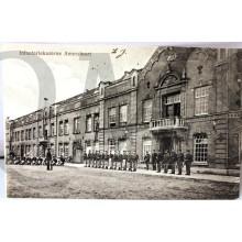 Prent briefkaart mobilisatie 1914 Infanterie Kazerne Amersfoort