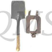 Original 1939 pattern entrenching tool/spade BEF 1940 with leather open cover