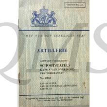 Voorschrift 2272 schootstafels Kanon 9 Veld