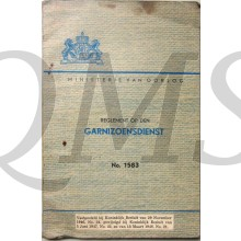 Voorschrift no 1583 Reglement op den Garnizoensdienst