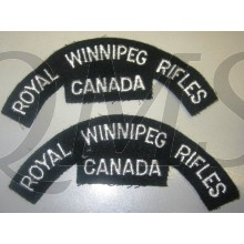 Shoulder titles Royal Winnipeg Rifles