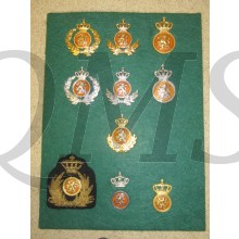 Collection of Dutch post war capbadges