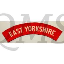 Shoulder flash East Yorkshire Regiment (canvas)
