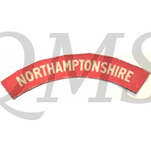 Shoulder flash Northamptonshire Regiment (canvas)