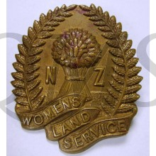 Cap badge Women's Land Service New Zealand WW2