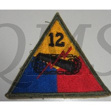 Mouwembleem 12e Armored Divison (Sleevebadge 12th Armored Division)