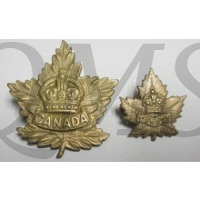 General List Maple Leaf Cap & collar badge