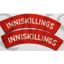 Shoulder flashes Royal Inniskilling Fusiliers (Inniskillings)