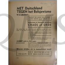 Flyer Met Duitsland tegen het Bolsjewisme Waarom ?  nov 1941