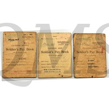 3 Soldier's Pay Books Named To B76488 Wellman Harold Frank, Toronto Scottish Regiment (M.G.) C.A.S.F.