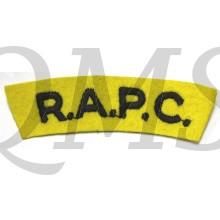 Shoulder flash Royal Army Pay Corps