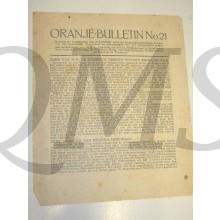 Oranje Bulletin no 21