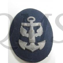 Kriegsmarine Ärmelabzeichen Laufbahn für einen Marineartilleriemaat