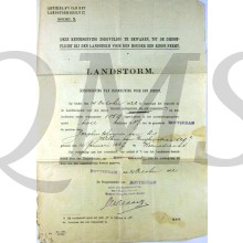Landstorm Rotterdam 1922 Kennisgeving inschrijving tnv Josephus Johannes van As