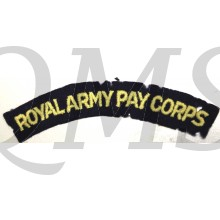 Shoulder title Royal Army Pay Corps (R.A.P.C.)