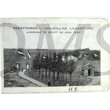 Ansichtkaart Feestterrein Vrijwillige Landstorm Landdag te Delft 1926