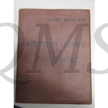 Soldiers Service and Paybook, Army book 64