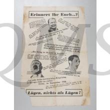 Flugblatt  Drei Mächte - ein Kriegsziel! Einig gegen Hitlers Kriegsmaschine!