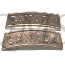 Shoulder titles Canada (full brass)