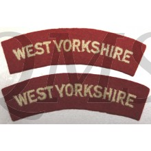 Shoulder flashes West Yorkshire Regiment (Prince of Wales's Own) (14th Foot)