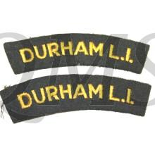 Shoulder flash Durham Light Infantry