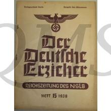 Reichszeitung der NSLB Der Deutche Erzieher heft 15 1938