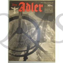 Zeitschrift Der Adler heft 2 19 Jan 1943 (Magazine Der Adler no 2 19 Jan 1943)