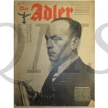 Zeitschrift Der Adler heft 9  4 Mai 1943 (Magazine Der Adler no 9   4 Mai 1943)