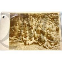 Foto groep ned militairen 1914-18 voor bomengroep