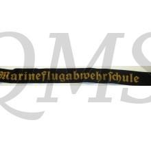 Mützenband Marine Flugabwehr Schule (Captally Navy anti aircraft school)