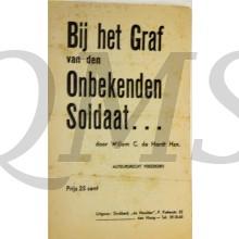 Tekst bij het Graf van den Onbekenden Soldaat