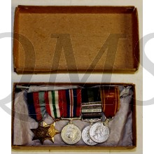 British 5 miniature medals boxed