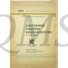 Voorschrift 1589A Uniformen Vreemde Krijgsmachten 1950