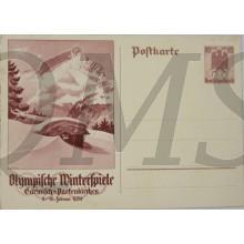 Postkarte Olympische Winter Spiele