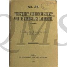 Voorschrift no 36 Verbindingsdienst Koninklijke Landmacht 1933