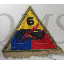 Mouwembleem 6th Armored Divison (Sleevebadge 6e Armored Division)