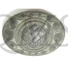 Brosche RAD Reichsarbeitsdienst in silber für Mädchen und Frauen (Female RAD silver grade badge)
